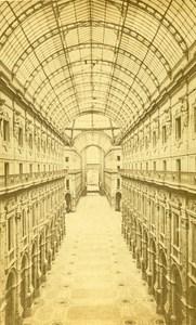 Italy Milan Gallery Victor Emmanuel old CDV Photo 1870