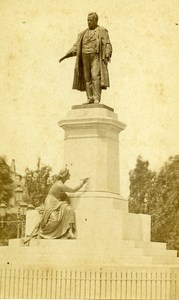 Italy Firenze Monument Cavour old CDV Photo Brogi 1870