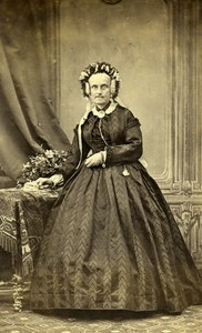France Nice Woman Second Empire Fashion old CDV Photo Trajan 1860's