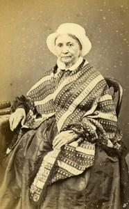 France Paris Woman Second Empire Fashion old CDV Photo Legros 1860's