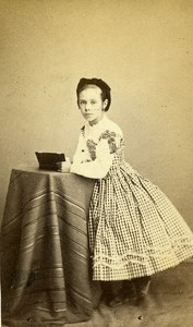 France Senlis Children Second Empire Fashion old CDV Photo Robert 1860's