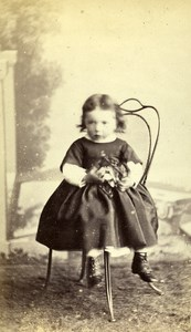 France Nantes Children Toy Second Empire Fashion old CDV Photo Furst 1860's