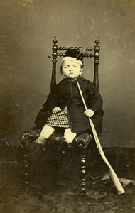 France Poitiers Children Toy Second Empire Fashion old CDV Photo Motte 1860's