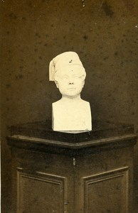 France Grenoble Bust Sculpture Second Empire old CDV Photo Brunel 1860's
