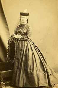 France Paris Woman Second Empire Fashion old CDV Photo Bertrand 1860's