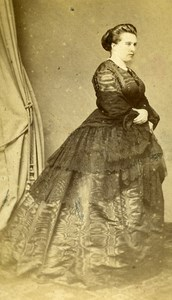 France Vichy Miss Chopard Second Empire Fashion old CDV Photo Spingler 1860's