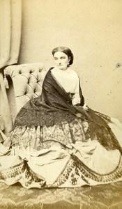 France Vichy Countess Pruzcinska Second Empire old CDV Photo Spingler 1860's