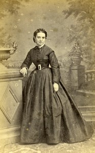 France Blois Caroline Menaut Second Empire old CDV Photo Mieusement 1860's