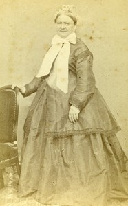 France Blois Miss Dejoux Second Empire Fashion old CDV Photo Mieusement 1860's
