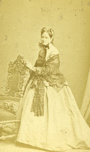Switzerland Geneva Woman Fashion old CDV Photo Grosset & Trembley 1860's