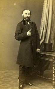 France Paris Doctor Lemoine of Saint Brieuc old CDV Photo Honore 1860's