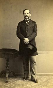 France Paris M Deville Second Empire Fashion old CDV Photo Bureau 1860's