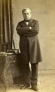 France Paris Man Second Empire Fashion old CDV Photo Bisson 1860's