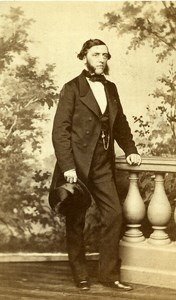 France Vichy Man Second Empire Fashion old CDV Photo Coutem 1860's