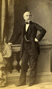 France Strasburg Man Second Empire Fashion old CDV Photo Winter 1860's