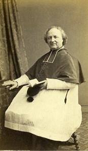 France Paris Man Clergyman Religion old CDV Photo Rossignol 1860's