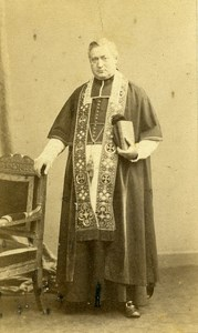 France Paris Man Clergyman Religion old CDV Photo Bisson 1860's