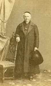 France Paris Man Clergyman Religion old CDV Photo Delbarre 1860's