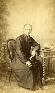 France Paris Man Clergyman Religion old CDV Photo Mouret 1860's