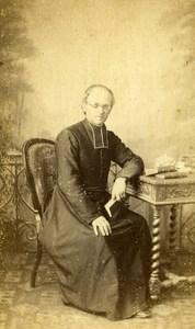 France Paris Man Clergyman Religion old CDV Photo Mouret 1860's