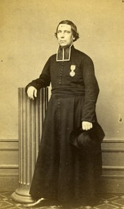 France Vichy Man Clergyman Religion old CDV Photo Coutem 1860's