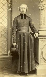 France Toulouse Man Clergyman Religion old CDV Photo Provost 1860's