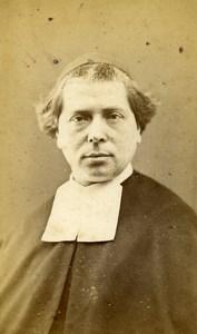France Paris Man Clergyman Religion old CDV Photo Ducasse 1876