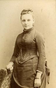 France Strasburg Woman Second Empire Fashion old CDV Photo Schweitzer 1860's