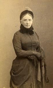France Strasburg Woman Second Empire Fashion old CDV Photo Schweitzer 1880