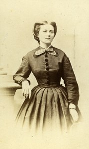 Germany Carlsruhe Woman Second Empire Fashion old CDV Photo Wagner 1860's