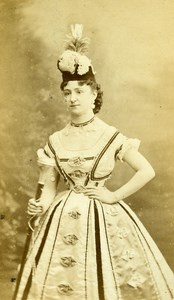 France Paris Theater Actress Miss Meralda old CDV Photo Reutlinger 1870