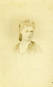 France Paris Vicomtesse de Broissia old CDV Photo Lejeune 1870