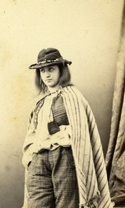 France Paris Theater Actress Miss Fromentin old CDV Photo Maze 1862
