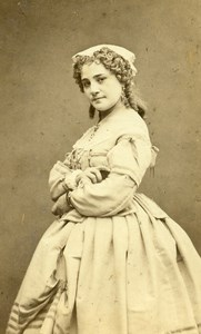 France Paris Theater Actress Miss Lacroix old CDV Photo Lege & Bergeron 1870