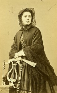 France Paris Soprano Actress Miss Mariette old CDV Photo Ken 1860's