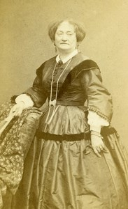 France Paris Theater Actress Miss Melanie old CDV Photo Carjat 1860's