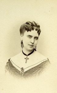 France Paris Theater Actress Miss Cordeus old CDV Photo Mulnier 1870