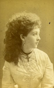Austria Wien Theater Actress Miss Colement old CDV Photo Lowy 1870