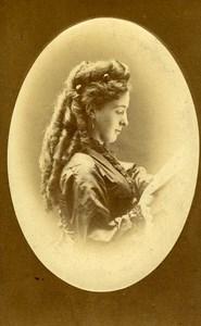 Austria Wien Theater Actress old CDV Photo Czihak 1870