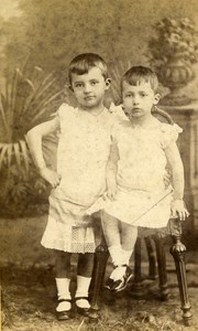 France Nancy Aymar & Thierry Martel de Janville old CDV Photo Barco 1880