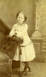 France Paris Henriette de Sainte Marie old CDV Photo Fontes 1890