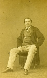 France Paris Theater Actor Louis Monroze old CDV Photo Pesme 1860's