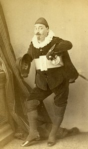 France Rouen Tenor Singer Pierre Vigourel Autograph old CDV Photo Witz 1864