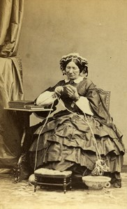 France Paris Baronness Alexandrine de Latour old CDV Photo Disderi 1865