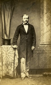 France Vesoul Professor Ernest Jule Bourquin Signed old CDV Photo Nedzinsky 1865