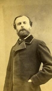 France Marseille Poet Maurice Bouquet Autograph old CDV Photo Cazalis 1865