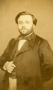 Belgium Anvers Henri Berlioz d'Auriac Autograph old CDV Photo Dupont 1865