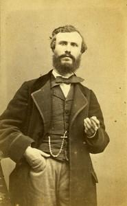 France Marseille Felibre Writer Louis Bret old CDV Photo Cazalis 1865