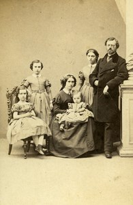 France Paris Alfred Joubaire Family old CDV Photo Walter 1865