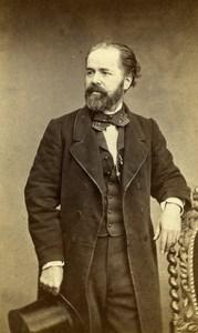 France Paris Mister de Serner old CDV Photo Erwin 1865